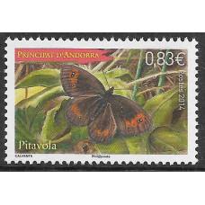 Андорра (Французская). Бабочка (Erebia neoridas). Марка
