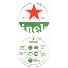 """Бирдекель """"Heineken"""", правила подачи пива в бокал"""