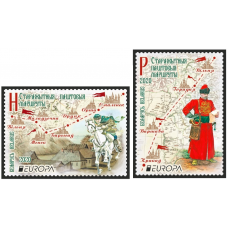 Белоруссия. EUROPA CEPT. Старинные почтовые маршруты. Серия