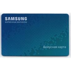 """Пластиковая карта """"SAMSUNG Бонусная карта"""""""