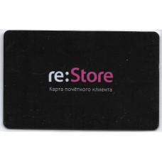 """Пластиковая карта """"re:Store карта почётного клиента"""""""