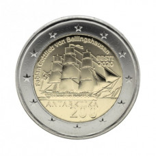 Эстония. 200 лет открытию Антарктиды. Монета 2 Евро