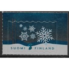"""Финляндия. Рождество. """"Снежинка"""". Марка"""