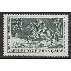 """Франция. День почтовой марки. """"Почтальон"""", гравюра Шарля Парроселя. Марка"""