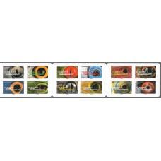 Франция. Глаза животных. Буклет из 12 самоклеящихся марок