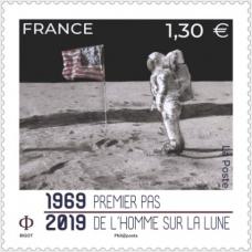 Франция. 50-летие первой высадки человека на Луну. Марка