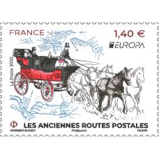 Франция. EUROPA CEPT. Старинные почтовые маршруты. Марка