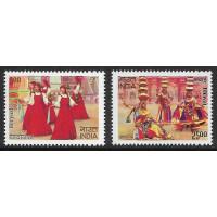 Индия. Народные танцы. Совместный выпуск с Россией. Серия из 2 марок