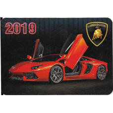 "Карманный календарик ""Lamborghini"", на 2019 год"