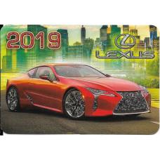"Карманный календарик ""Lexus"", на 2019 год"