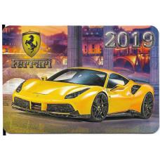 "Карманный календарик ""Ferrari"", на 2019 год"