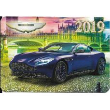 """Карманный календарик """"Aston Martin"""", на 2019 год"""