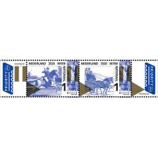 Нидерланды. EUROPA CEPT. Старинные почтовые маршруты. Сцепка