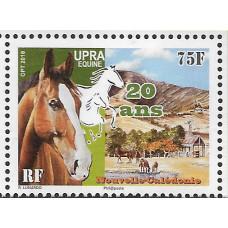 Новая Каледония. 20 лет Национальной ассоциации коневодов. Марка