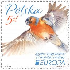 Польша. EUROPA-CEPT. Птицы. Марка