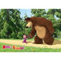 """Немаркированная почтовая карточка """"Маша и Медведь"""""""
