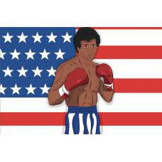"""Cinema card. Rocky Balboa"". Дизайн: Still Hobby"