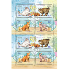 Россия. Фауна России. Кошки. Лист малого формата