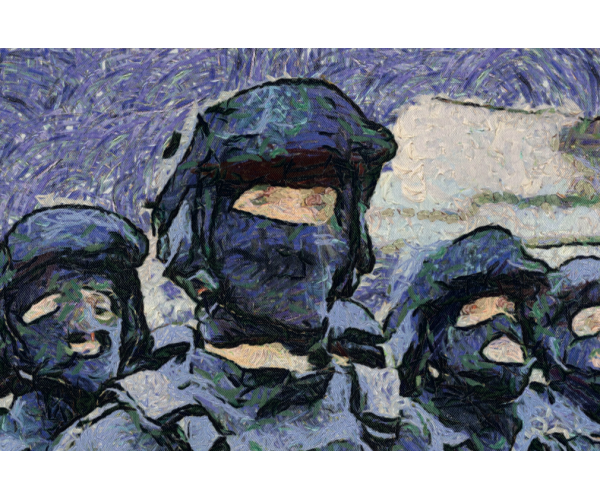 Федеральная служба войск национальной гвардии Российской Федерации. РОСГВАРДИЯ в стиле Ван Гог