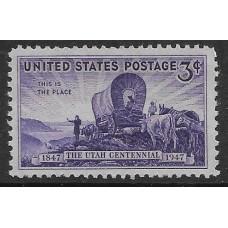 США. 100 лет колонизации штата Юта. Марка