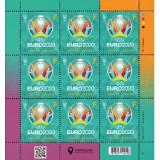 Украина. Чемпионат Европы по футболу 2020. Лист малого формата